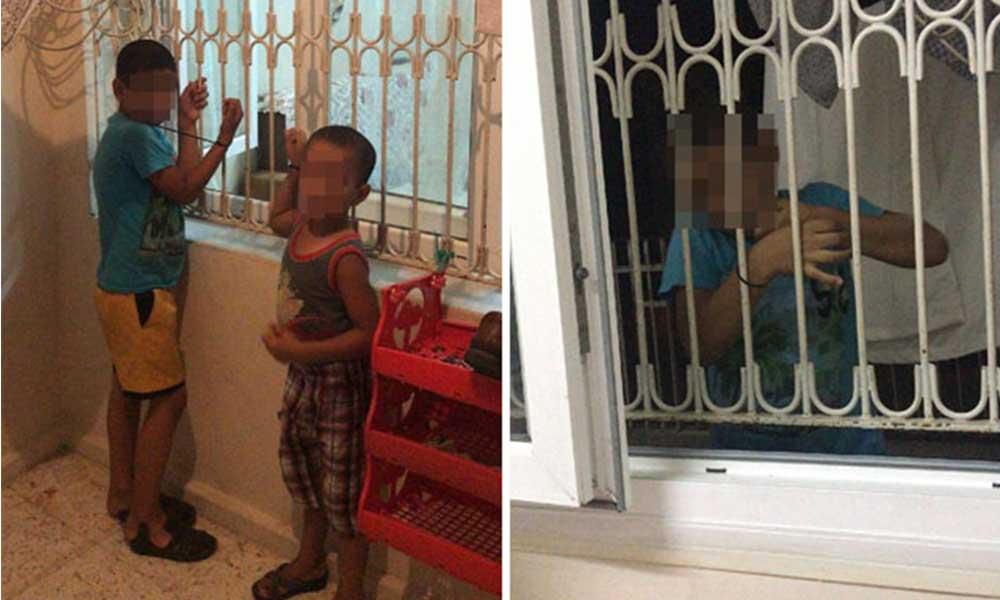 Borcu ödenmedi: Çocukları kaçırıp plastik kelepçeyle pencere demirine bağladı!