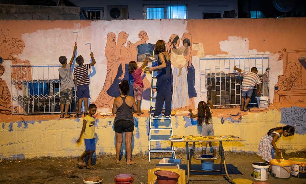 Roman vatandaşların renkli dünyası duvarlara yansıyor