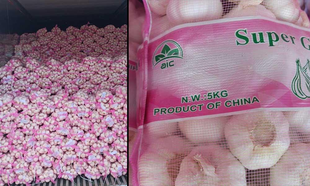 Tonlarca Çin sarımsağı Türkiye'ye geldi… Etiketleri sahte çıktı
