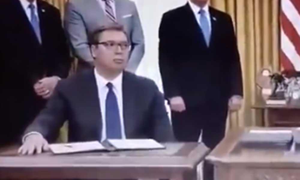 Sırbistan Başkanı okumadan anlaşma imzaladı… Maddeleri duyunca şoke oldu