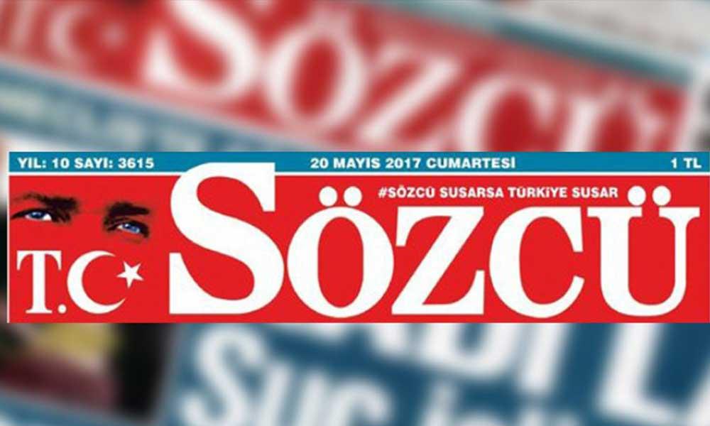 Flaş… Erdoğan'ın hedef gösterdiği Sözcü'ye inceleme başlatıldı!