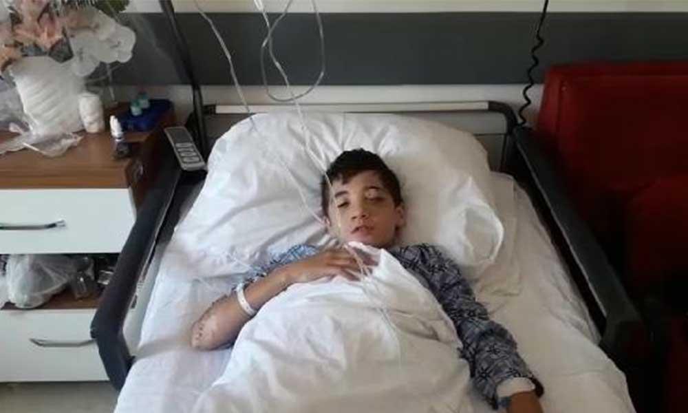 14 yaşındaki çocuk torpilin patlaması sonucu gözünü kaybetti