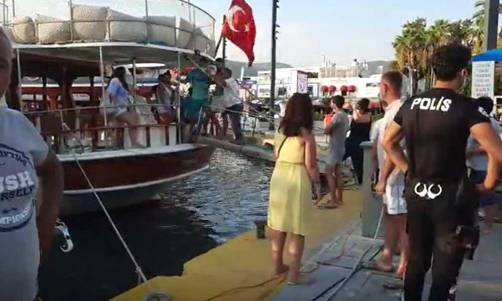 Bodrum'da turiste kazık gazeteciye küfür