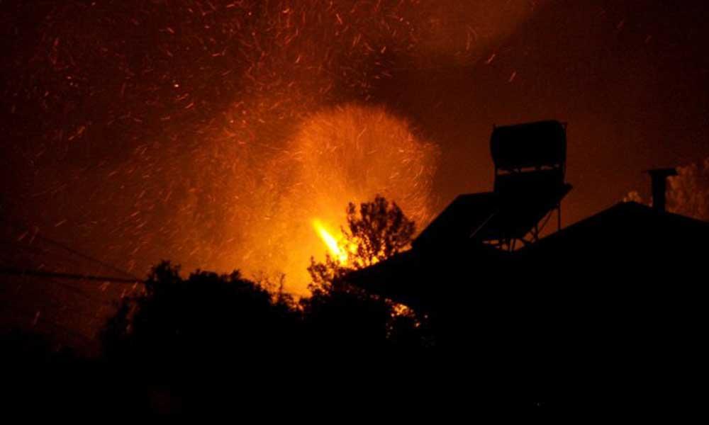 Orman yangını: Civarda bulunan yazlık evler boşaltıldı