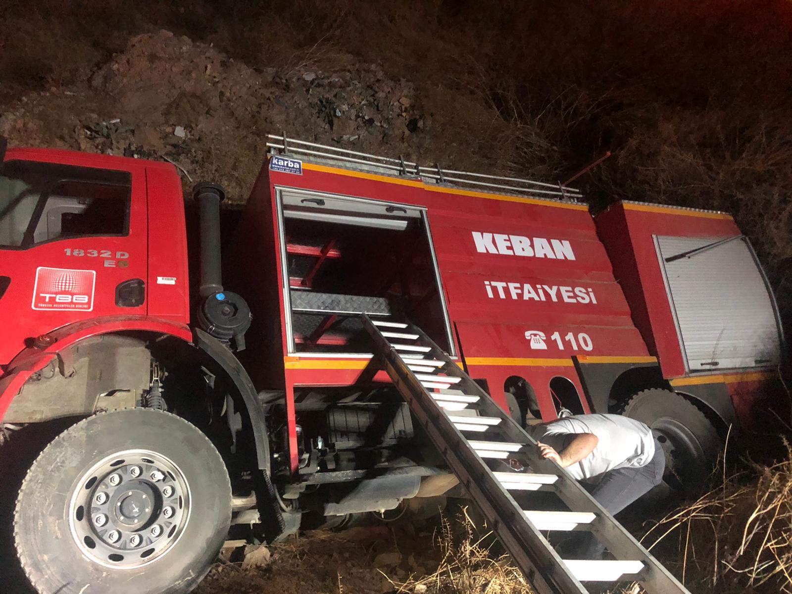 Devrilen kamyona müdahaleye gidiyorlardı! İtfaiye aracı devrildi, 3 kişi yaralandı