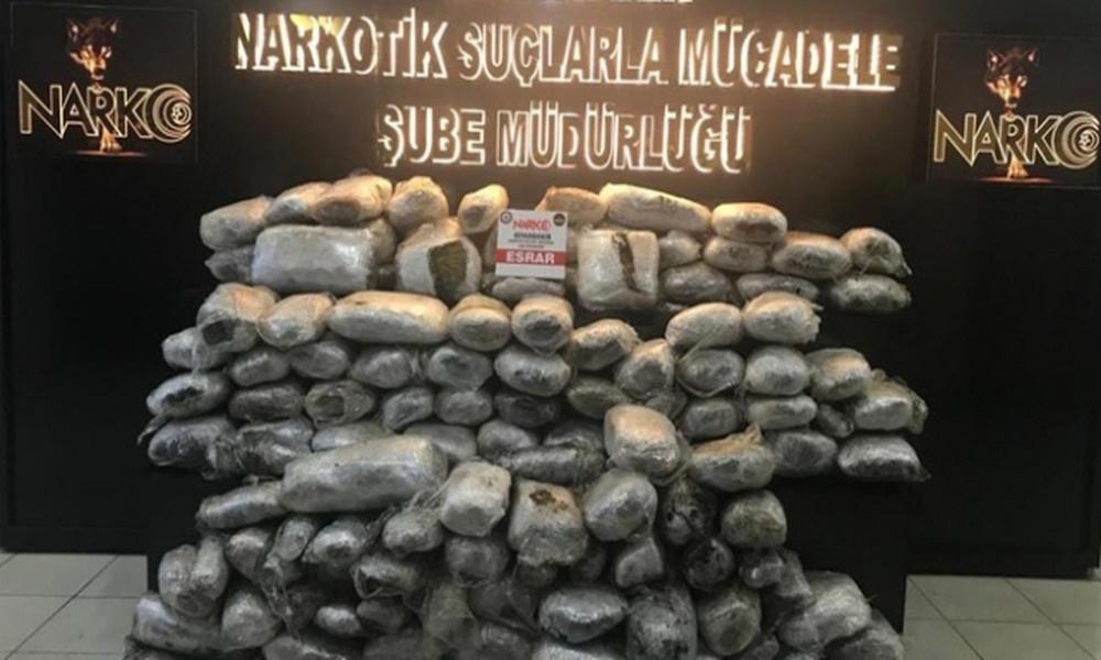 Uyuşturucu operasyonu: 159 kilogram ele geçirildi
