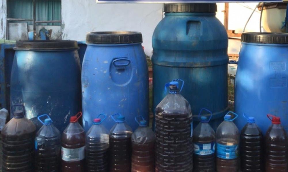 Kırklareli'nde 760 litre sahte içki ele geçirildi