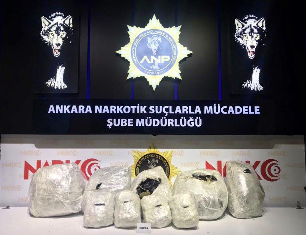 Ankara'da 31 kilogram esrar ele geçirildi
