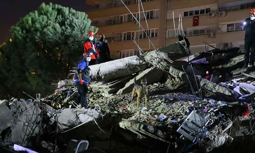 AFAD: Dokuz binada arama kurtarma çalışmaları sürüyor