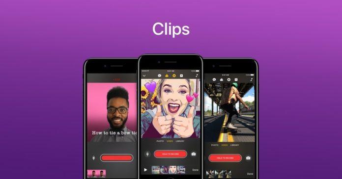 Apple'ın Clips uygulaması yenilendi