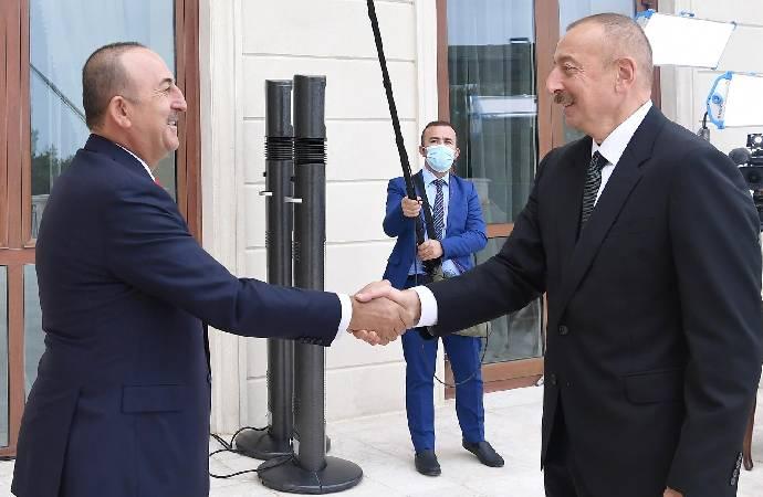Çavuşoğlu, Azerbaycan Cumhurbaşkanı Aliyev ile görüştü