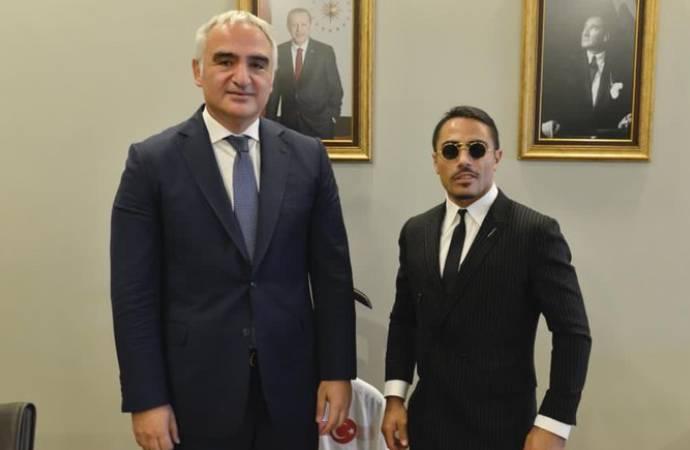 Nusret'ten bakana ziyaret: Turizmin filozofu sayın Mehmet Nuri Ersoy'a teşekkür ediyorum