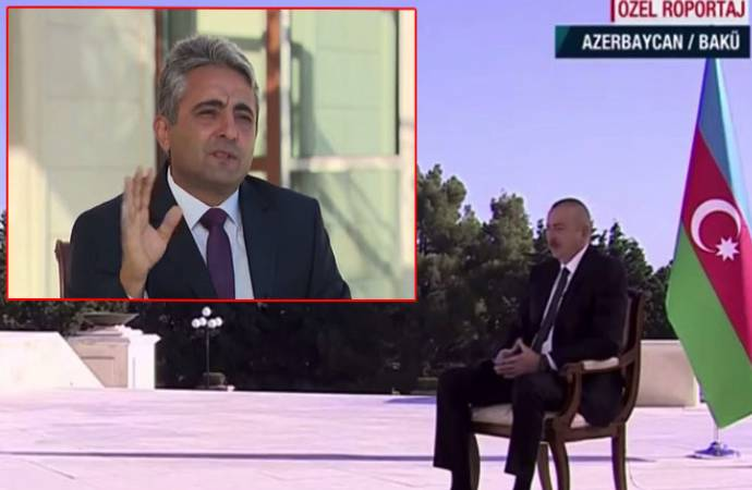 Aliyev'den A Haber muhabirine ters köşe