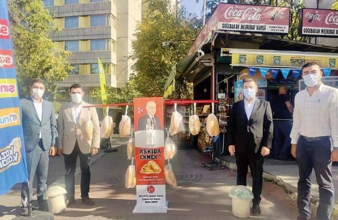 MHP, 'askıda ekmek' kampanyasını yaptığı o standı kaldırdı