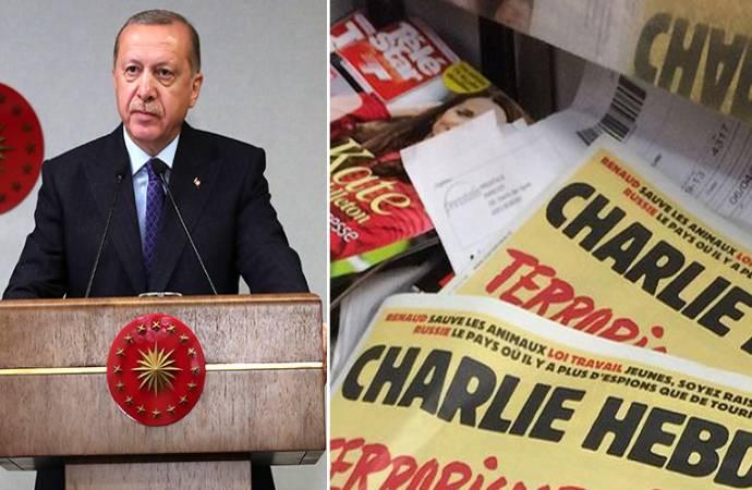 Erdoğan karikatürü yayınlayan Charlie Hebdo dergisine bakan yardımcısından küfürlü tepki
