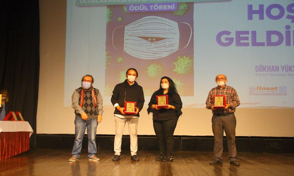 Uluslararası Covid-19 Karikatür Yarışması Ödül Töreni Kartal'da düzenlendi