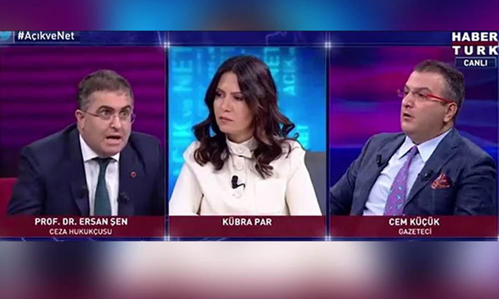 HaberTürk canlı yayınında gergin anlar! Ersan Şen ile Cem Küçük birbirine girdi