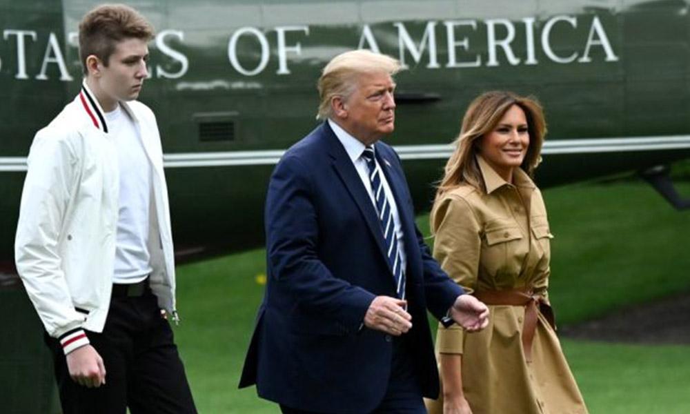 ABD Başkanı Trump'tan sonra oğlu Barron da koronavirüse yakalandı