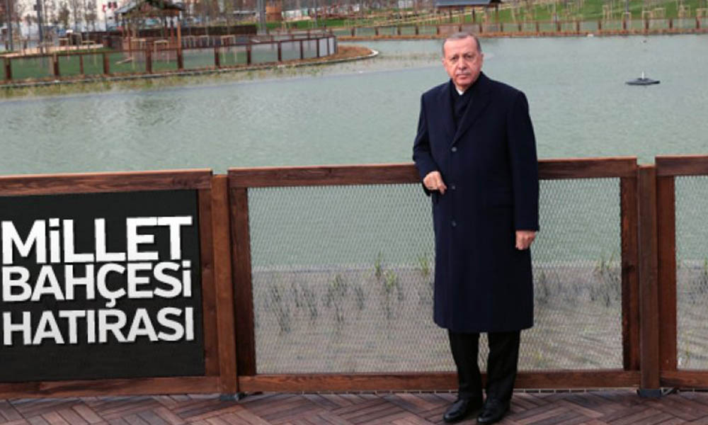 101 milyon TL'lik 'Recep Tayyip Erdoğan Millet Bahçesi'