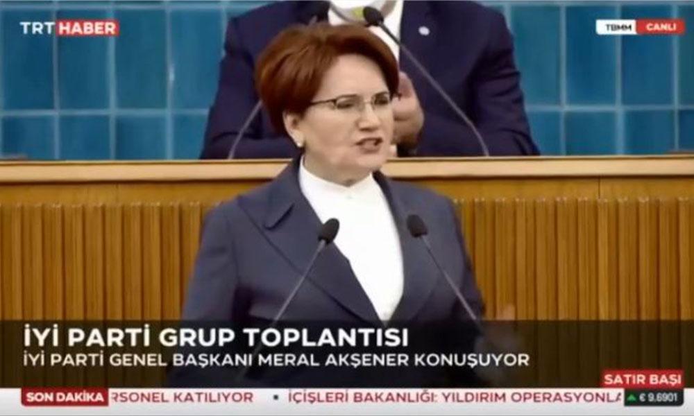 Meral Akşener ve üreticiye saygısızlık! TRT canlı yayını kesti