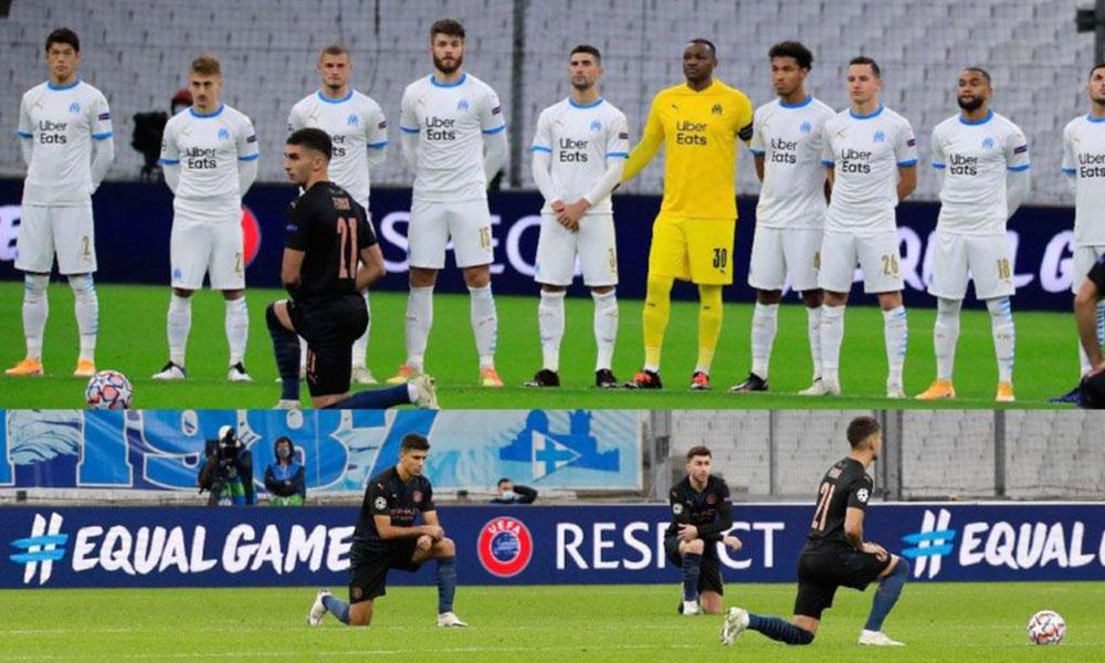 Marsilya futbolcularından ırkçılığa karşı skandal hareket