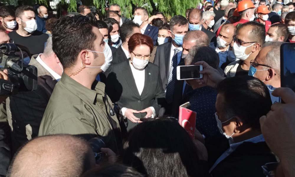Meral Akşener, 6.9'luk depremin vurduğu İzmir'de…