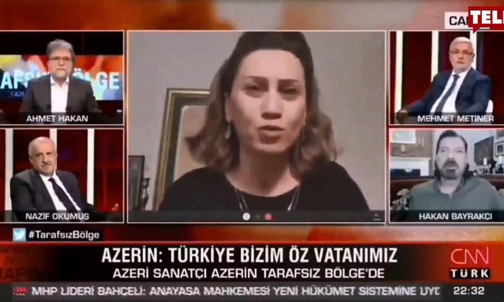 Ahmet Hakan ne diyeceğini şaşırdı! Azerin'den CNN Türk'e tarihi ayar