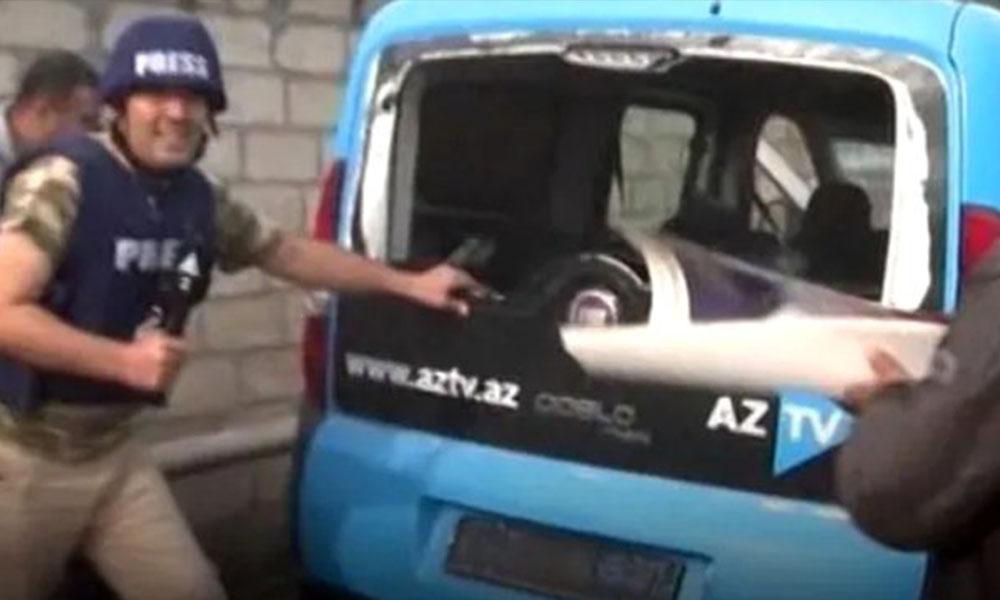 Sivillere füzeyle saldırmışlardı! Ermenistan, bu kez de Azerbaycanlı gazetecileri hedef aldı
