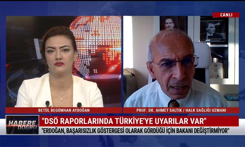 Halk Sağlığı Uzmanı Prof. Dr. Ahmet Saltık: Türkiye'de ilan edilmesi gereken toplam olgu sayısı 7 milyon olmalı