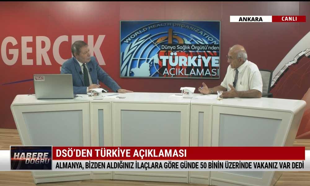 Prof. Dr. Ahmet Saltık: Almanya, 'bizden aldığınız ilaçlara göre günde 50 binin üzerinde vakanız var' dedi