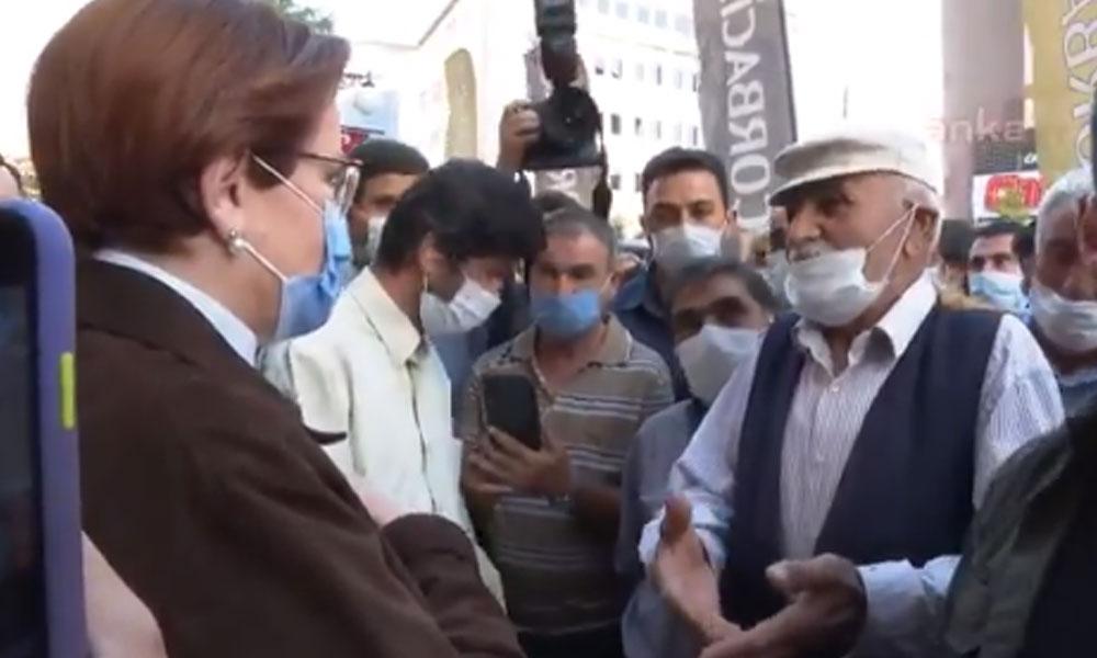 Akşener'le konuşan esnaf: MHP'nin Genel Başkanı yuvana dön yuvana