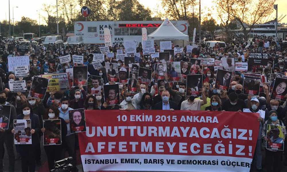10 Ekim Ankara Katliamı'nda yaşamını yitirenler Kadıköy'de anıldı