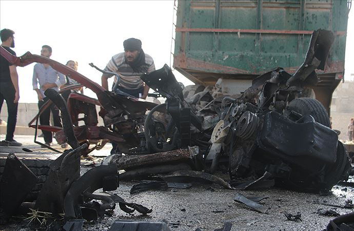 El Bab'ta bombalı saldırı: 14 sivil hayatını kaybetti
