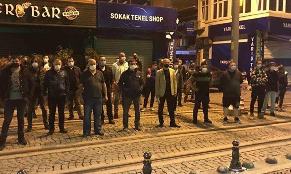 İzmit'te bar işletmecilerinden protesto!