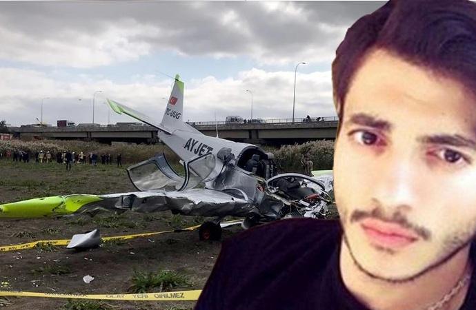 Büyükçekmece'de düşen eğitim uçağının pilotu hayatını kaybetti
