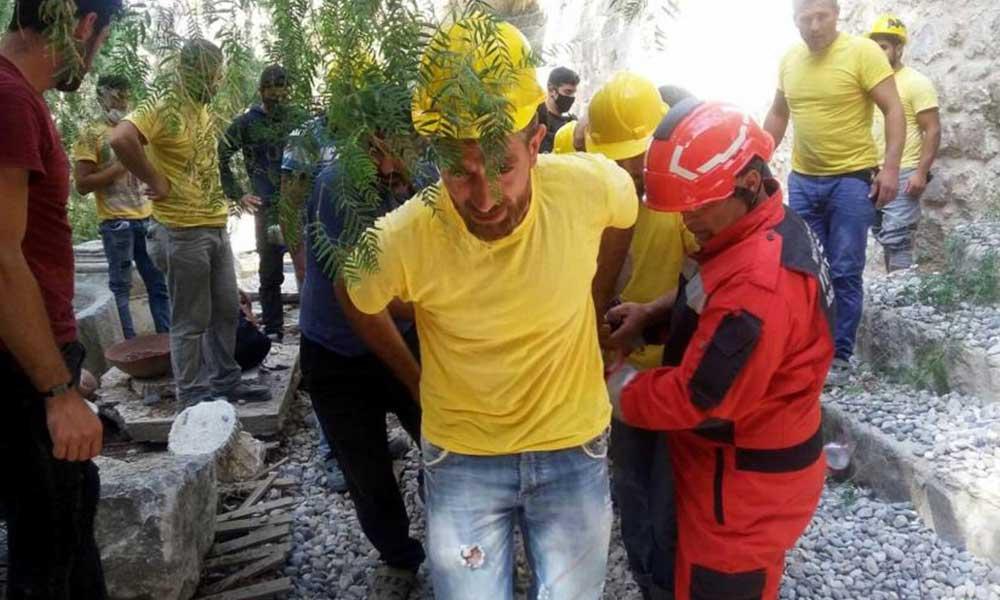 Bodrum Kalesi'nde iş kazası: 1'i ağır 2 işçi yaralandı