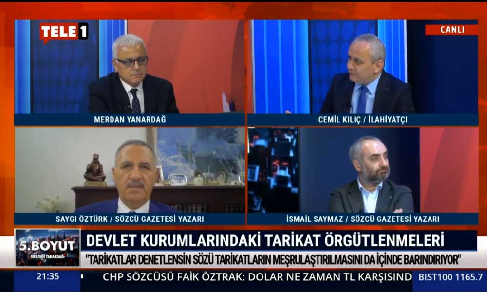 Cemil Kılıç: Bugün bir tarikat liderinin ekranlarda görünmesi bile suç