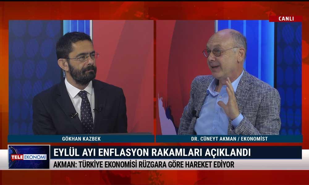 Ekonomist Dr. Cüneyt Akman: Türkiye'nin yöneticileri enflasyonu önlemek istemiyorlar – Tele Ekonomi (5 Ekim 2020)