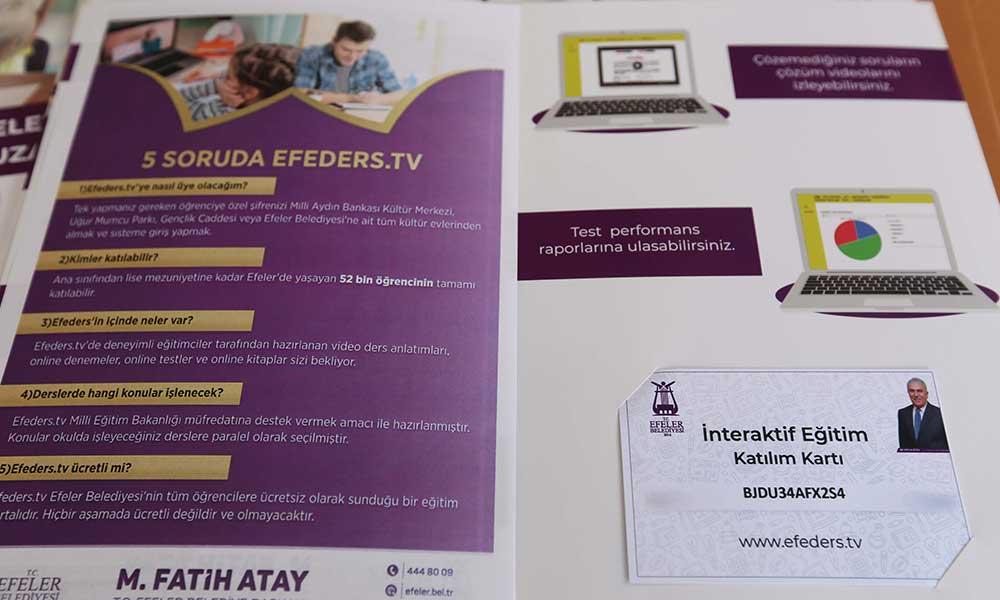 Efeler'in iddialı eğitim projesinin şifreleri dağıtılıyor