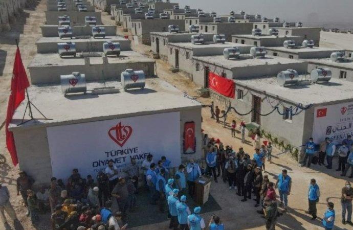 SMS ile yardım toplayan Diyanet Vakfı'ndan Suriye'ye 30 Milyon TL'lik konut