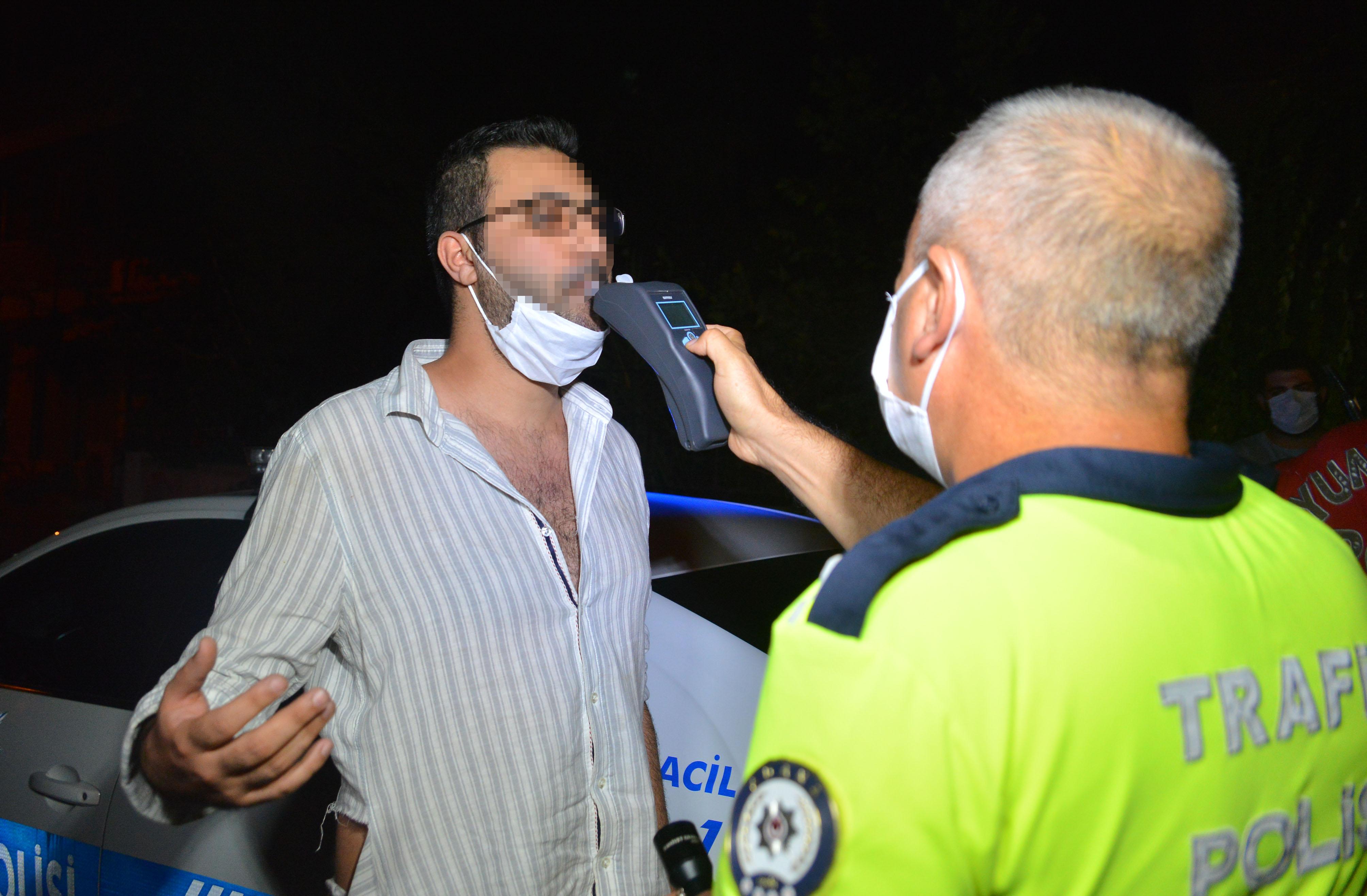 Makas atan otomobilin alkollü sürücüsüne para cezası
