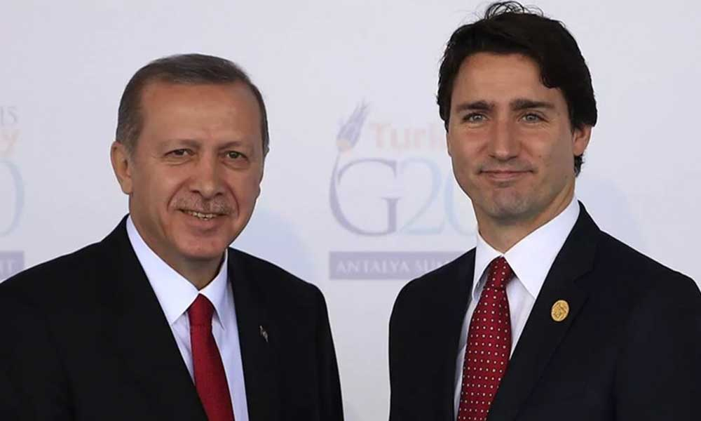 AKP'li Cumhurbaşkanı Erdoğan, Kanada Başbakanı Trudeau ile görüştü