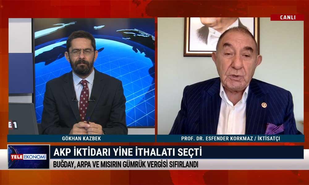 İktisatçı Prof. Dr. Esfender Korkmaz: Devletin görevi yardım yapmak değil, iş üretmek