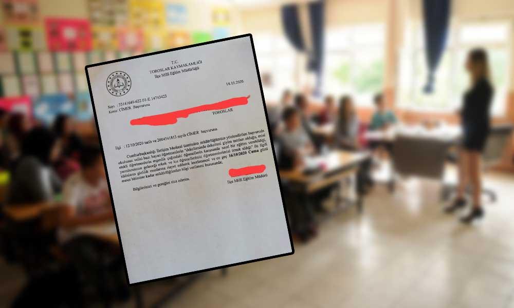 İlçe Milli Eğitim Müdürlüğü'nden skandal istek: Mini etekli öğretmenlerin bilgisini verin