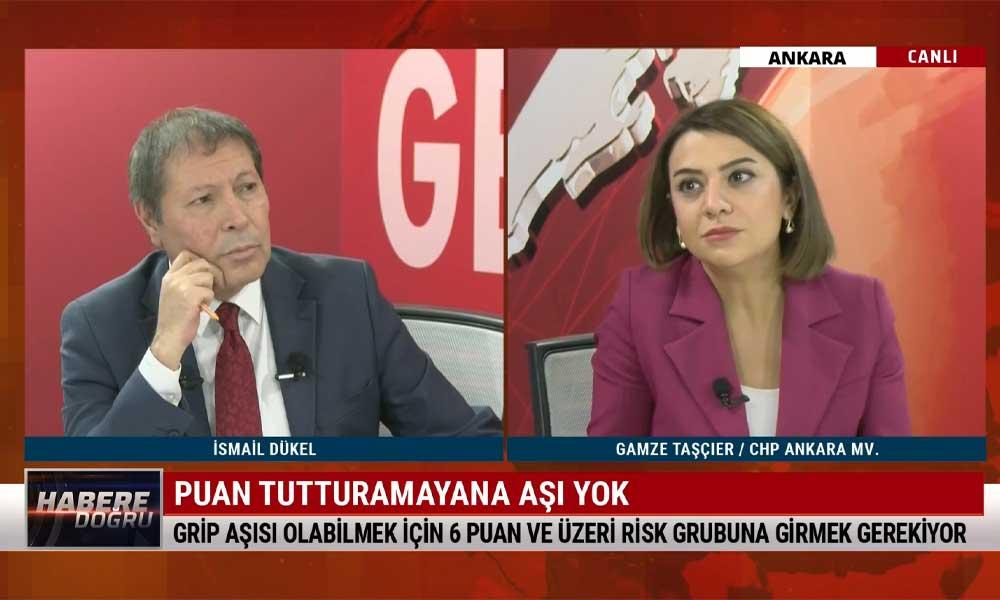 CHP Ankara Milletvekili Gamze Taşcıer: Cevap verilmediği için 1.5 milyon grip aşısı başka ülke tarafından satın alınmış