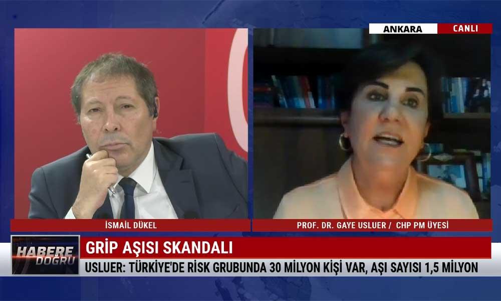 CHP PM üyesi Prof. Dr. Gaye Usluer: Sağlık Bakanlığı'nın bunu öngörmemesi kabul edilemez