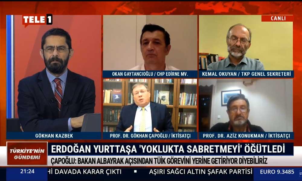 İktisatçı Prof. Dr. Gökhan Çapoğlu: Bugün enflasyon söylenenin en az 2 kat fazlası