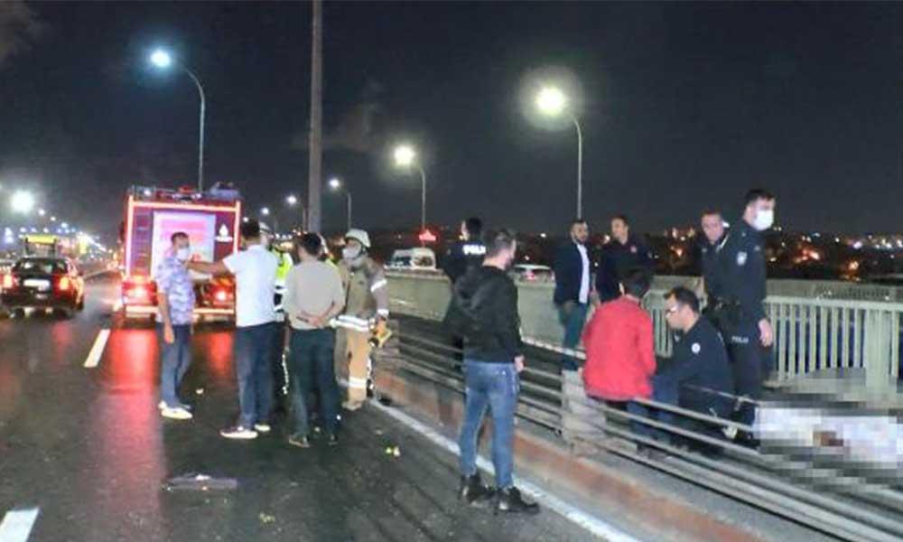 Haliç Köprüsü'nde kaza: Araçtan fırlayan çocuk bariyerlere çarparak hayatını kaybetti