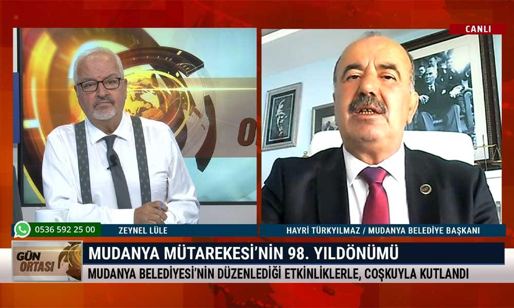 Gün Ortası'nın konuğu, Mudanya Belediye Başkanı Hayri Türkyılmaz