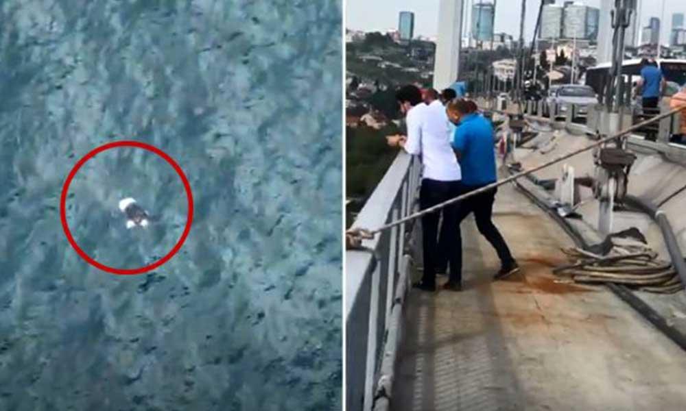 Bir anda taksiden inip köprüden atladı